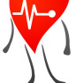 Hearth character with EKG graph